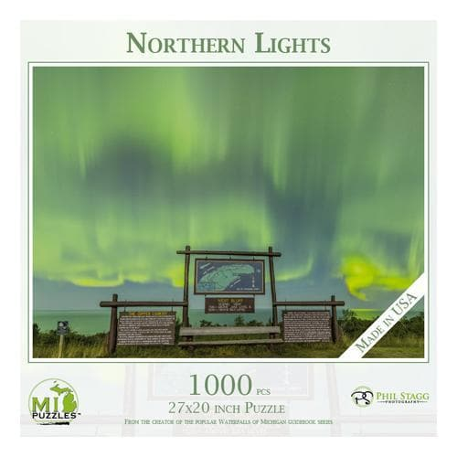 Michigan Puzzle - Northern Lights Yooper Books Touch of Finland (179334643718)