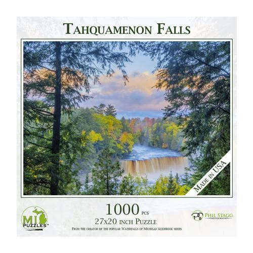 Michigan Puzzle - Tahquamenon Falls Yooper Books Touch of Finland (179330318342)