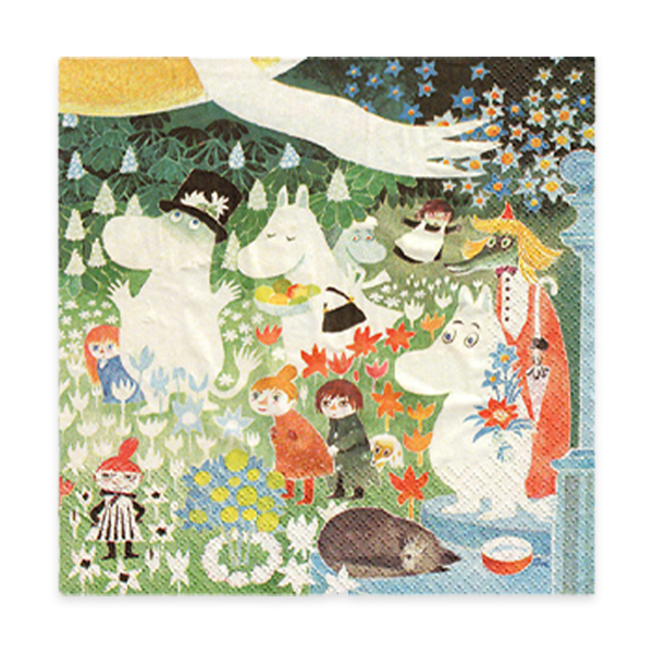Moomins in the Meadow Lunch Napkin