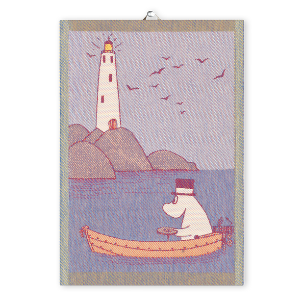 Ekelund Moomin Row the Boat Tea Towel