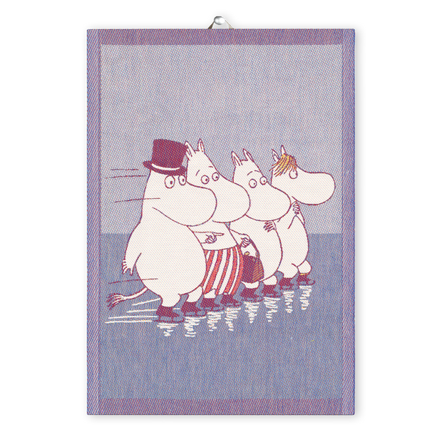 Ekelund Moomin Skating Tea Towel