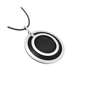 Pohjolan Helmi - Circle Necklace, Onyx Black