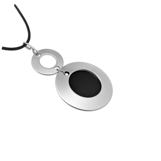 Pohjolan Helmi - Double Ring Necklace, Onyx Black