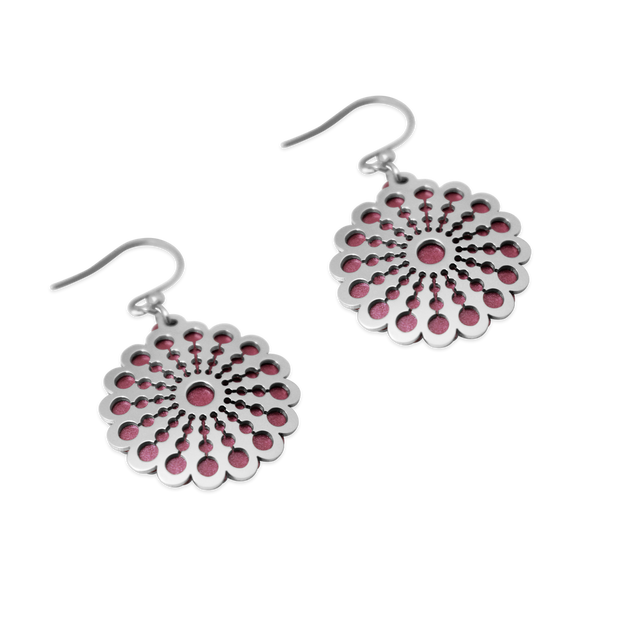 Pohjolan Helmi - Marigold Earrings, Rose Pink