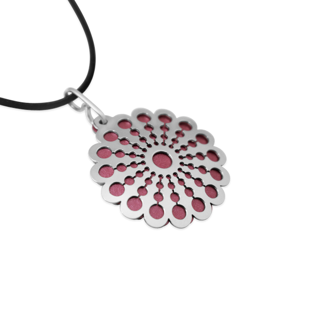 Pohjolan Helmi - Marigold Necklace, Rose Pink