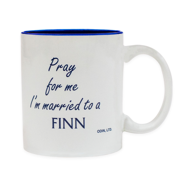 Finnish Coffee Mug - Pray for me I'm married to a Finn