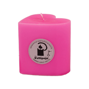 Puttipaja Heart Candle, Pink