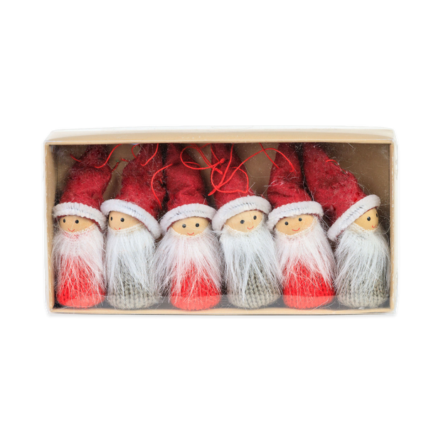 Tomte Ornaments Boxed Set (6pc)