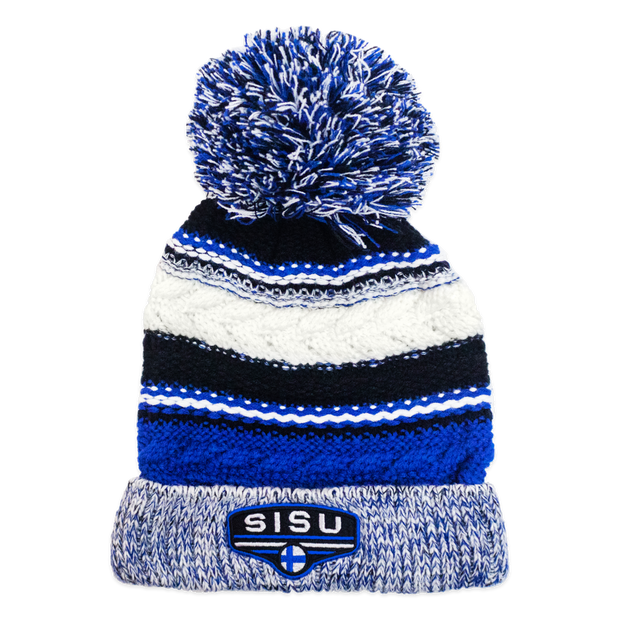 SISU Pom Pom Beanie - True Royal/Black/White