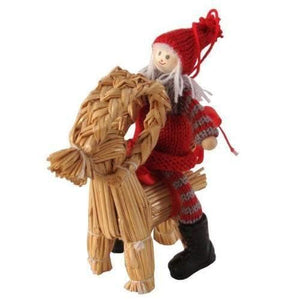 Straw Ornament - Girl & Julbok Ornament Touch of Finland