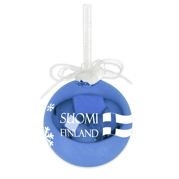 Suomi Finland 'Made in Finland' Ball Ornament