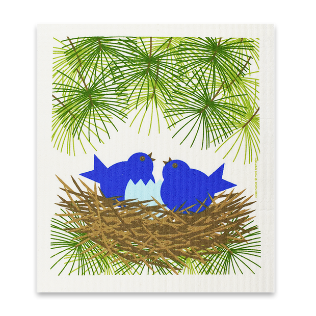 Swedish Dishcloth - Blue Bird Nest
