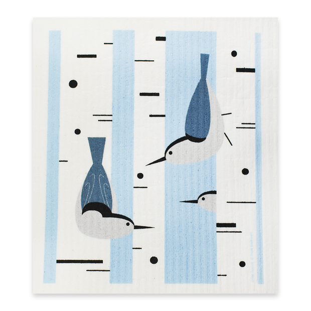 Swedish Dishcloth Birch Trees, 4 Pack