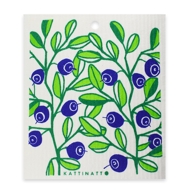 Swedish Dishcloth - Blueberries