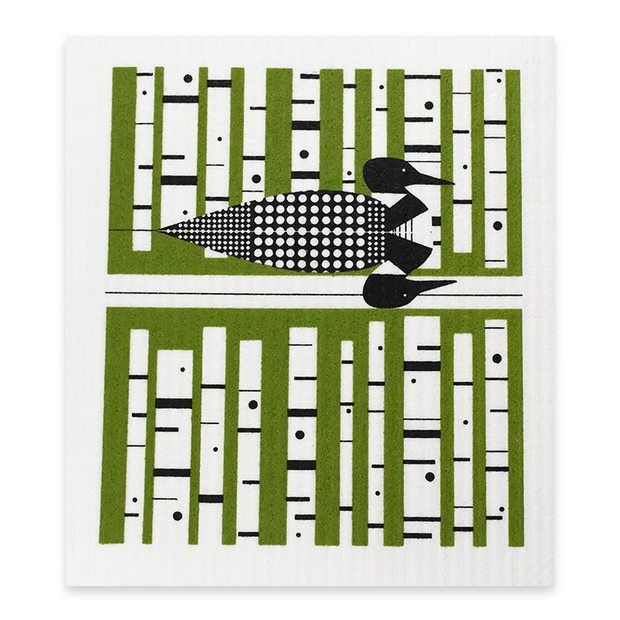 Swedish Dishcloth - Green Loon