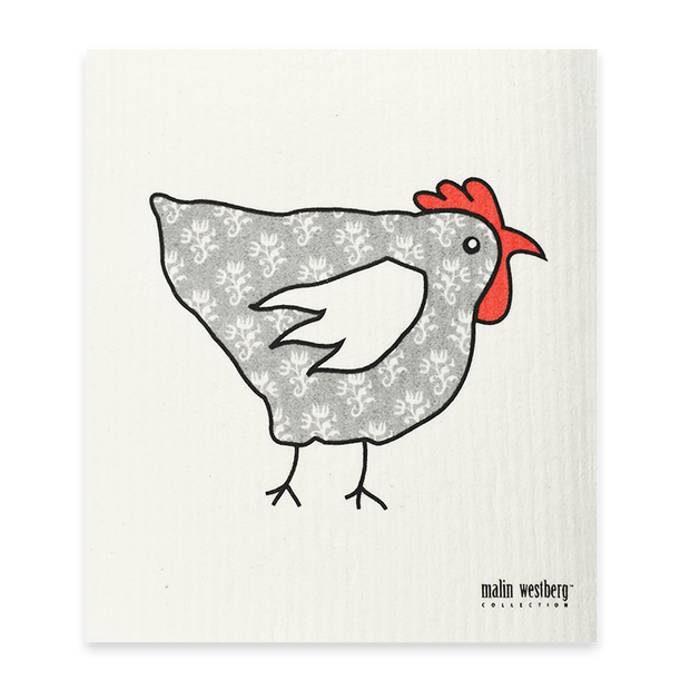 Swedish Dishcloth - Rooster Grey
