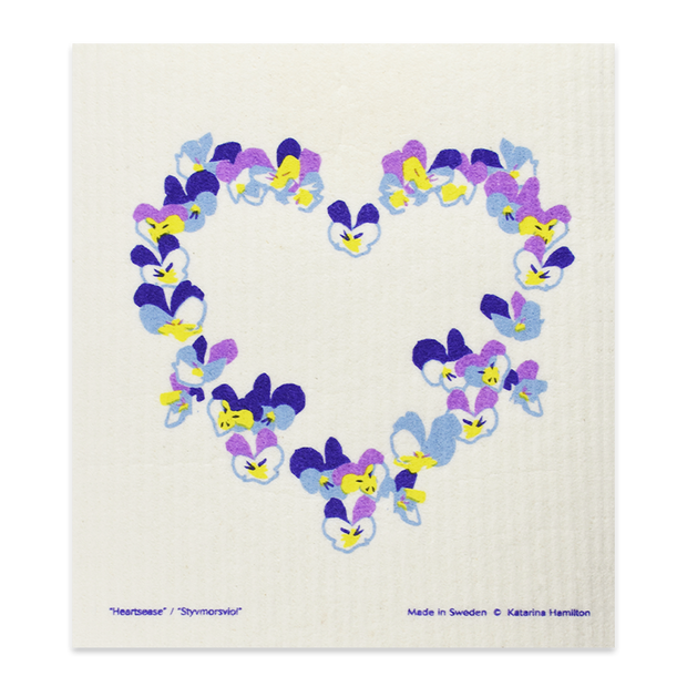 Swedish Dishcloth - Heartsease