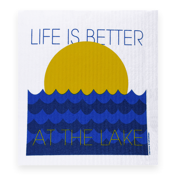 Swedish Dishcloth - Life is Better at the Lake