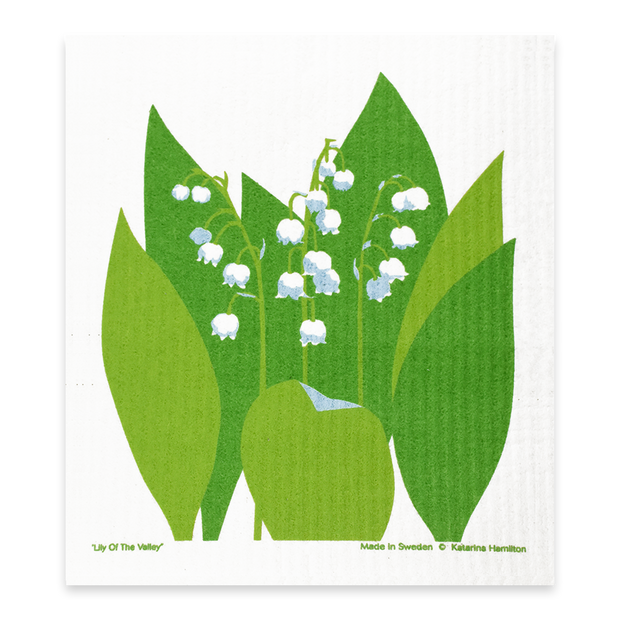 Swedish Dishcloth - Lily of the Valley