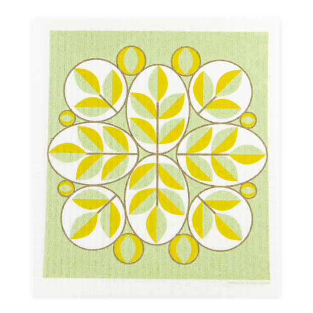 Swedish Dishcloth - Oval Leaves