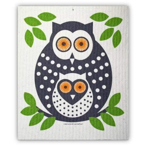 Swedish Dishcloth - Owls Green Swedish Dishcloths Touch of Finland (3864948614)