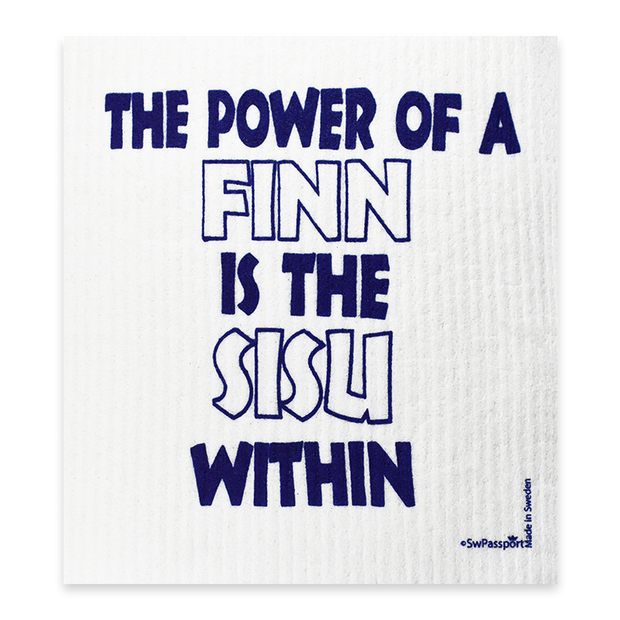 Swedish Dishcloth - The Power of a Finn is the SISU Within