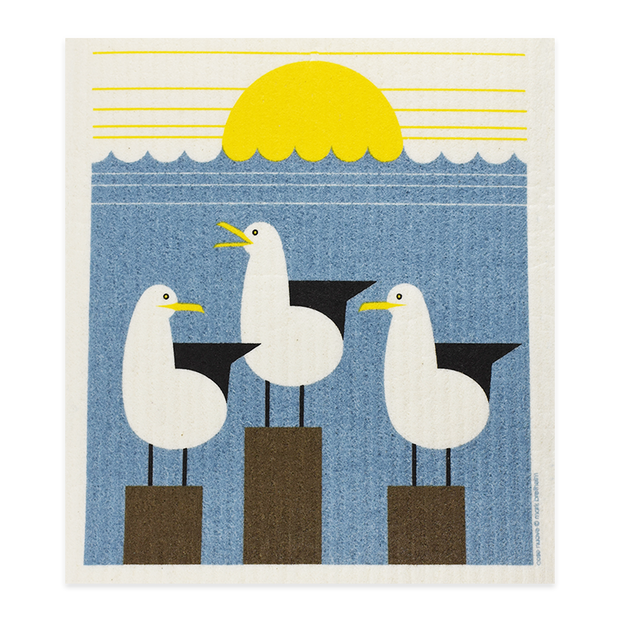 Swedish Dishcloth - Seagulls