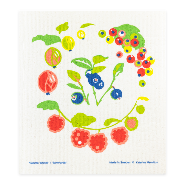 Swedish Dishcloth - Summer Berries