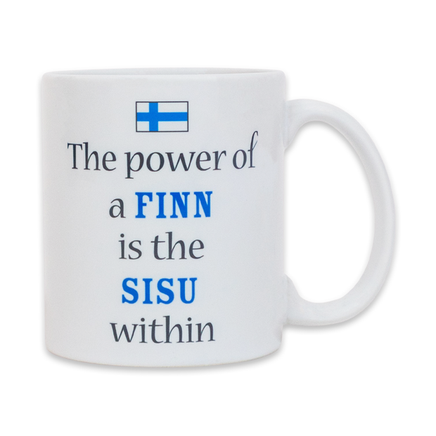 Finnish Coffee Mug - The Power of a Finn is the Sisu within