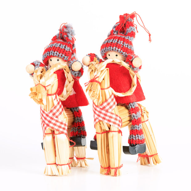 Children with Julbock (4 Pack)