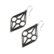 Valona Diamond Birch Earrings, Black