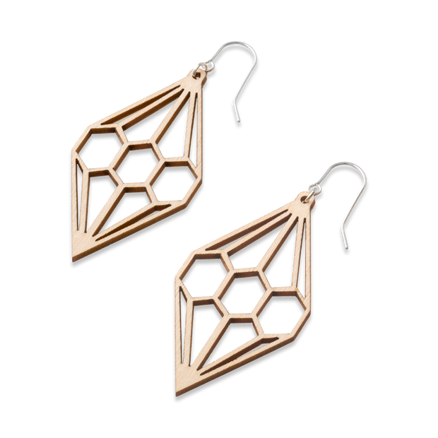 Valona Diamond Birch Earrings, Natural