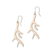 Valona Antler Birch Earrings, Natural