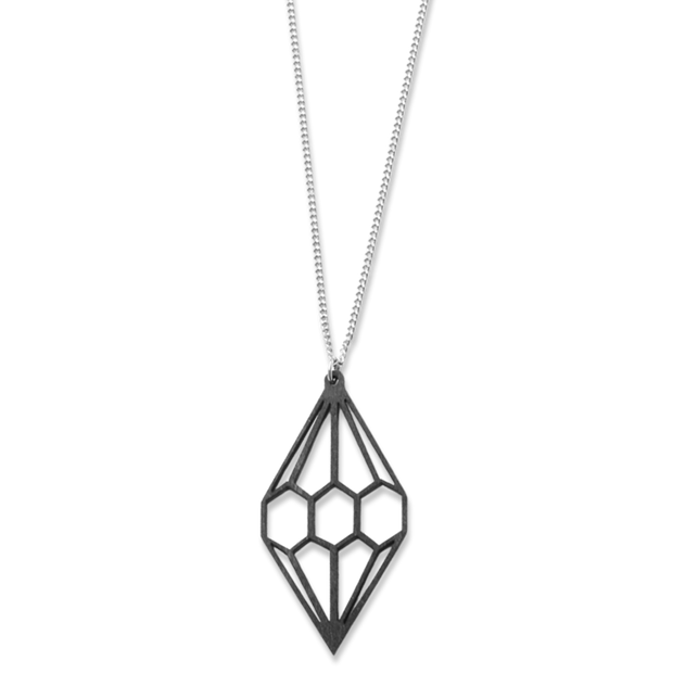 Valona Diamond Birch Necklace, Black