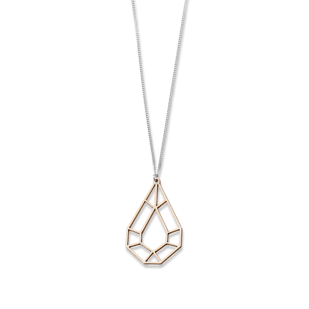 Valona Drop Birch Necklace, Natural