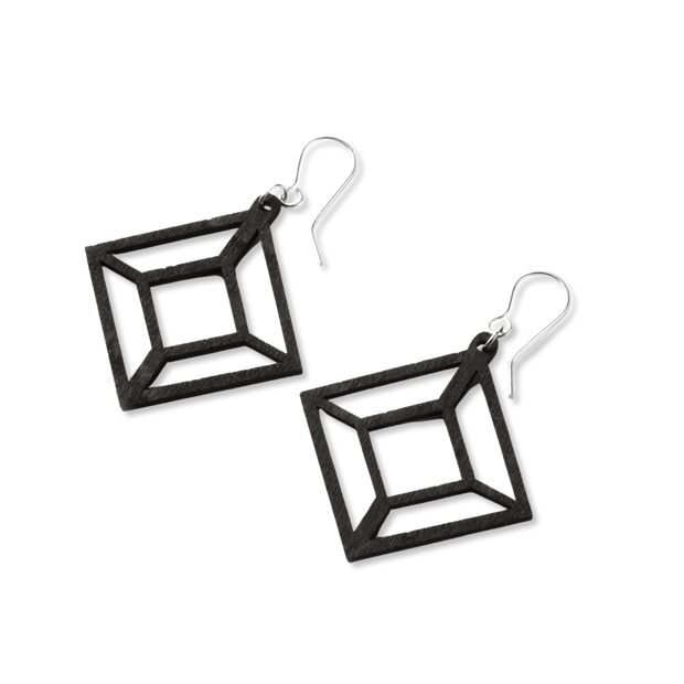 Valona Himmeli Birch Earrings, Black