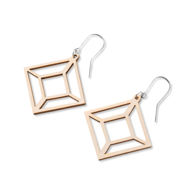 Valona Himmeli Birch Earrings, Natural