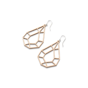 Valona Small Drop Birch Earrings, Natural
