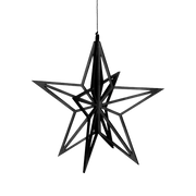 Valona Birch Star Crystal Decoration, Black