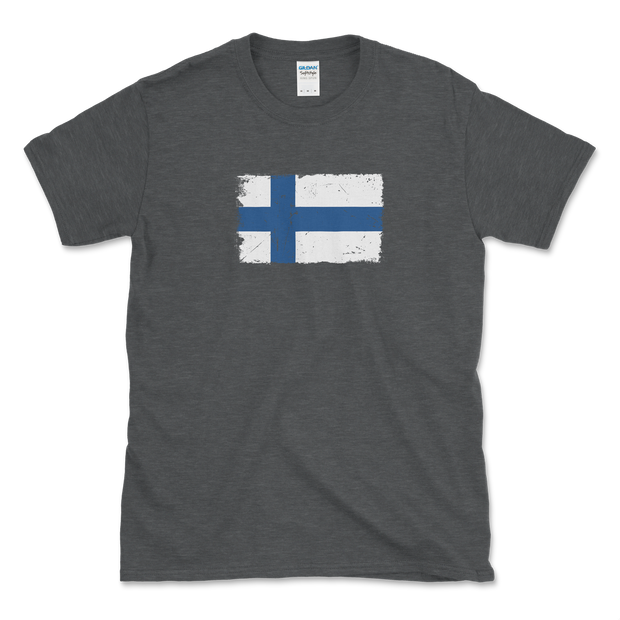 Finnish Flag Distressed T-Shirt