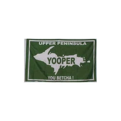 Yooper Flag 3' x 5' - Upper Peninsula, You Betcha! Flag Touch of Finland (395840959)