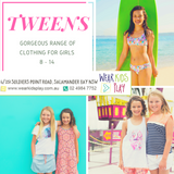 Tween & Teenager Fashionable Clothing Range | Online, Nelson Bay Port Stephens | Wear Kids Play