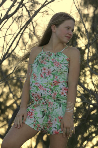 Wild Blossoms Teenage Girls Playsuits Fashion | Wear Kids Play Girls Clothes Nelson Bay