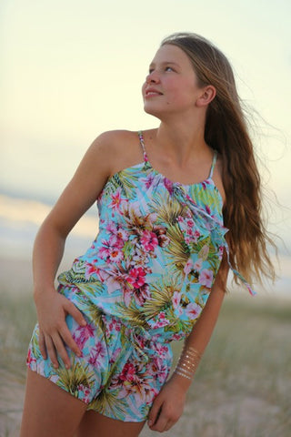 Wild Blossoms Teenage Fashion Playsuit | Nelson Bay | Wear Kids Play