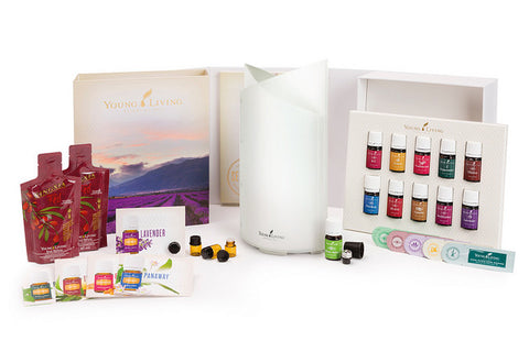 Young Living Premium Starter Kit With Bamboo Diffuser