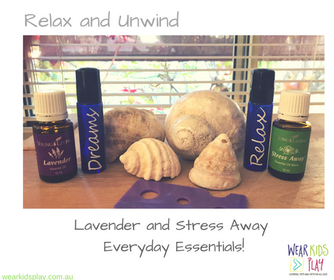 Young Living Essential Oils | Stress Away & Lavender with Rollerballs | Exclusive to Wear Kids Play