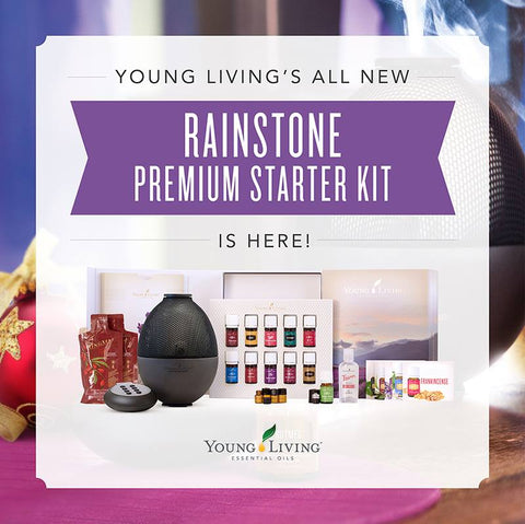 Young Living Premium Starter Kit With Rainstone™ Ultrasonic Diffuser