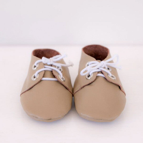 Tan Lace Up Moccasin
