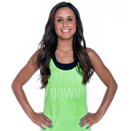 Cheer Love Double Down Club Cheerleading Tank