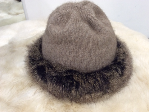 Merino Fur Trim Hat